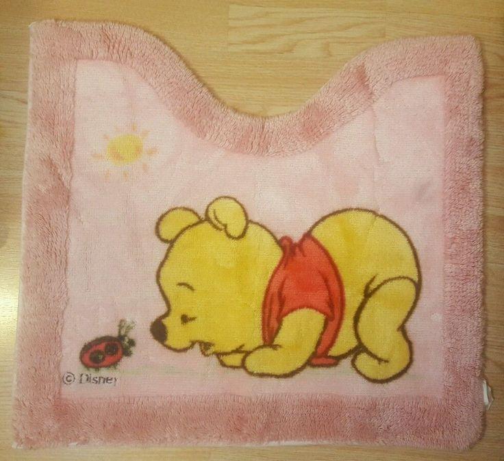 Disney Winnie the Pooh Bath Bathroom Mat Rug Pink Toilet Mat Baby Winnie  #Disney
