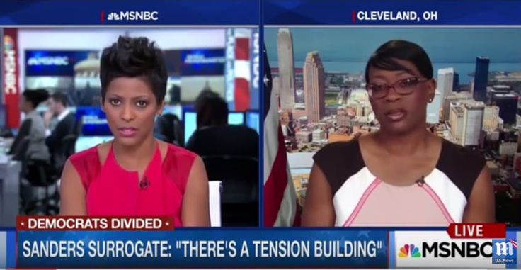 On today's edition of MSNBC Live, host Tamron Hall and former Ohio State Senator Nina Turner get into a heated exchange over violent Bernie Sanders supporters in Nevada and his similarities to presumptive Republican presidential nominee Donald Trump. Hall tries to get to the bottom of who may have been responsible for shooting up candidate …