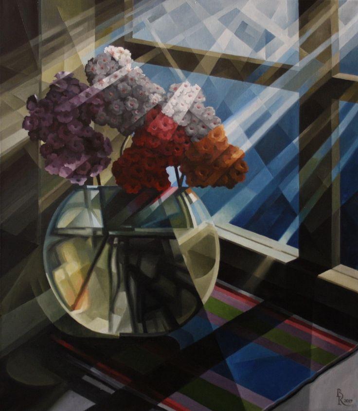 Full Moon Bouquet. Cubo-futurism. Krotkov Vassily. 2017