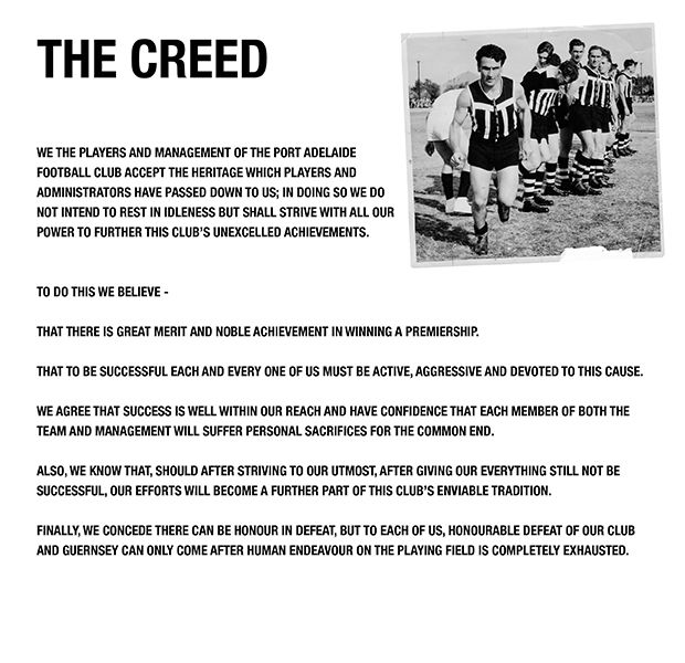 The Creed - PORTADELAIDEFC.com.au