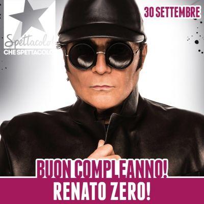 30.09.2016 #Compleanno #BuonCompleanno ★ #TantiAuguri a #RenatoZero che oggi compie 66 anni!!! Renato Fiacchini è infatti nato a Roma il 30 settembre 1950. E' fra i cantautori più amati e popolari d'Italia e con i suoi 38 album e più di 45 milioni di dischi venduti è tra i principali artisti italiani che hanno venduto maggior numero di dischi. ★ http://www.spettacolochespettacolo.com/component/k2/1776-30-settembre-2016-renato-zero