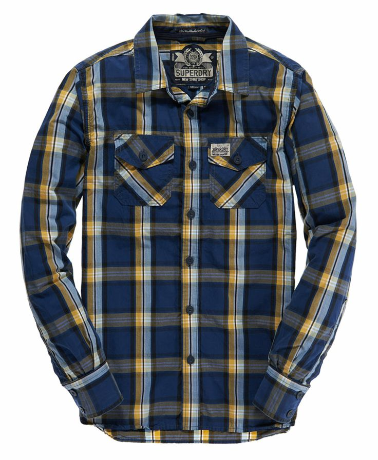 Shop Superdry Mens Washbasket Shirt in Grid Iron Check Mustard Mix. Buy now  with free delivery from the Official Superdry Store.