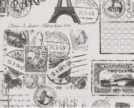 Tapeta 9363-01 Szary Paryż