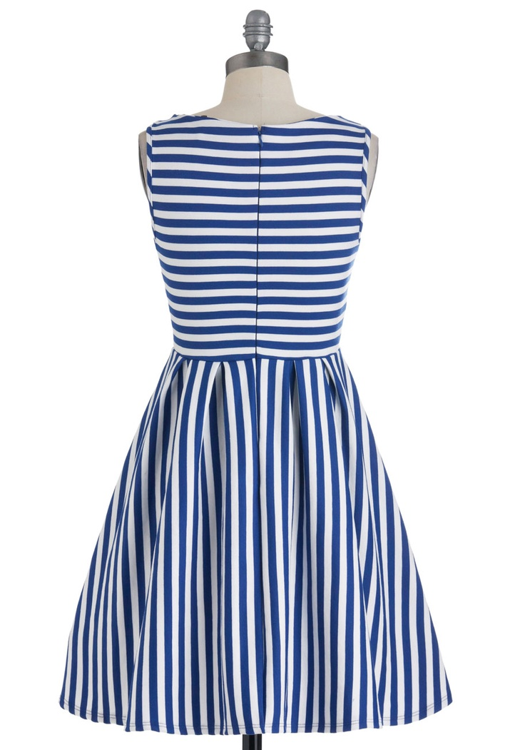 Whats the Lineup? Dress in Cobalt   Mod Retro Vintage Dresses   ModCloth.com