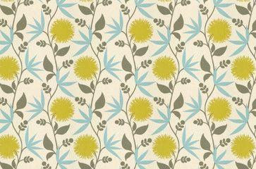 Thomas Paul Fabric: Dahlia/Aegean - eclectic - upholstery fabric - Jan Jessup