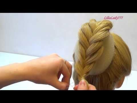 Причёска на резинке - Hairstyles by REM - YouTube