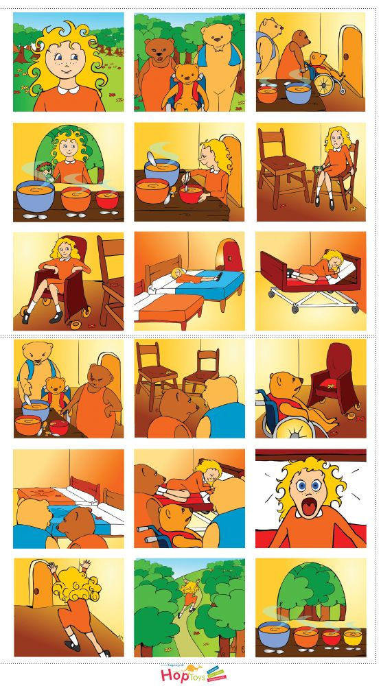 Goldilocks and the 3 bears told in pictures