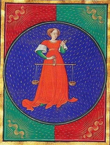 """""""Libra"""", illumination from the """"Book of Hours"""""""