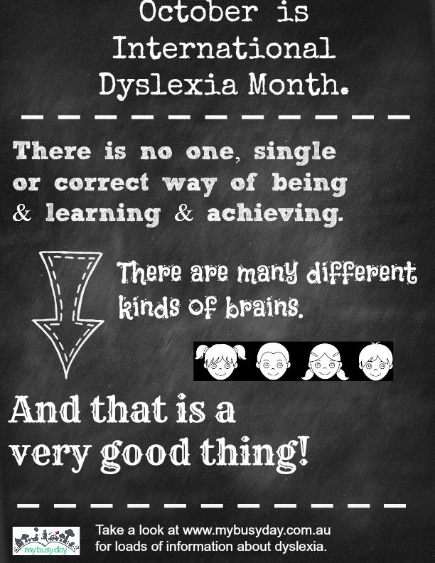 Dyslexic kids are smart kids. The key is to understand how they think and learn. http://www.mybusyday.com.au