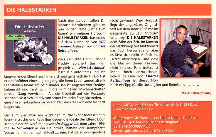 Ein Tipp für alle Nostalgiker und Rebellen unter uns ... 35 mm, das Retro-Filmmagazin stellt unser Hörbuch DIE HALBSTARKEN vor!
