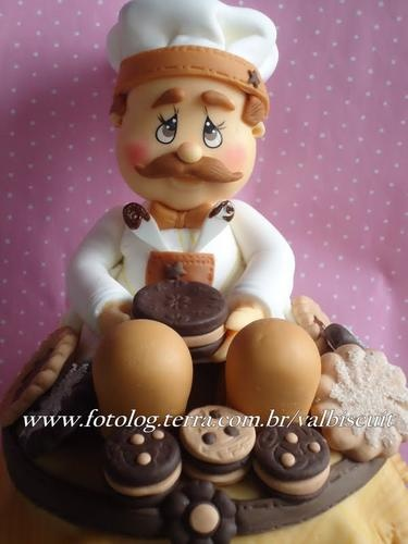 Cute chef, confections