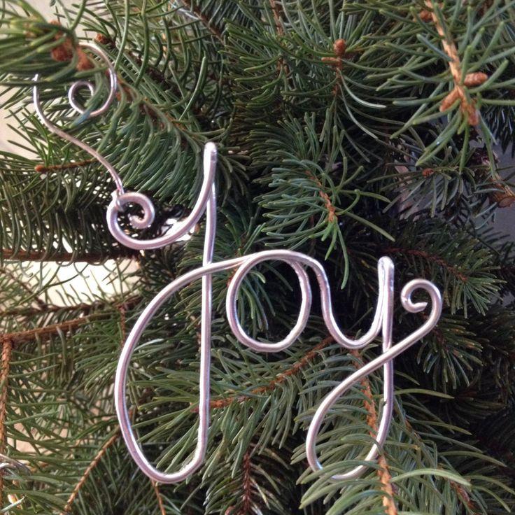 51 best Joy ornaments images on Pinterest  Christmas ornaments