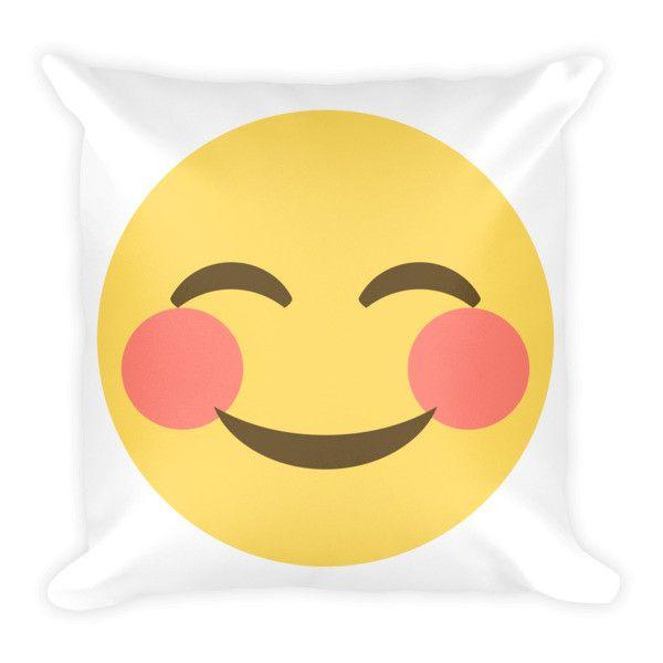 Blushing Emoji Pillow