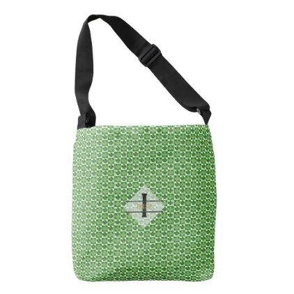 St. Patricks DAY IRISH Gift SHAMROCK - EDIT TEXT Crossbody Bag - st. patricks day gifts irish ireland green fun party diy custom holiday