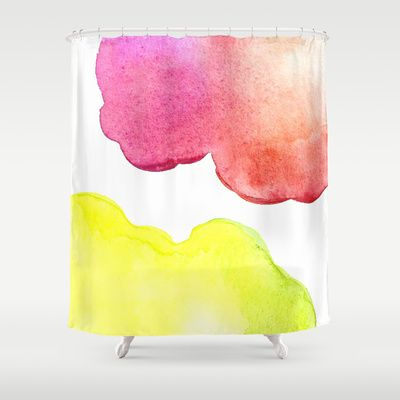 Shower curtains by Amee Cherie  Available here: http://society6.com/ameecheriepiek/watercolor-3bn#1=45