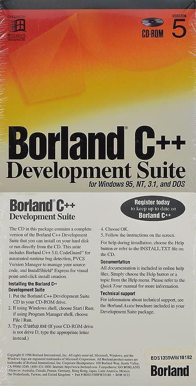 Servers Development And Dbms 80356 Borland C Development Suite