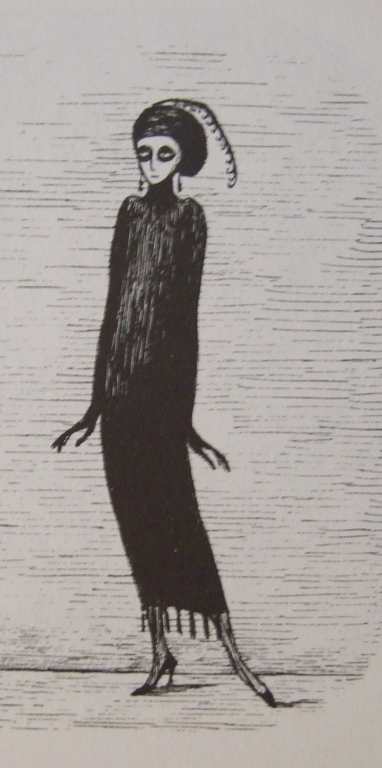 She's actually beautiful. Edward Gorey. What an artist.