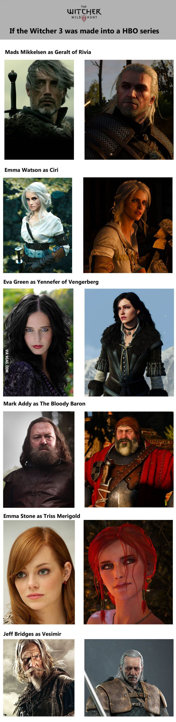 Viral pictures of the day: If the Witcher game series was turned into a HBO series or movie