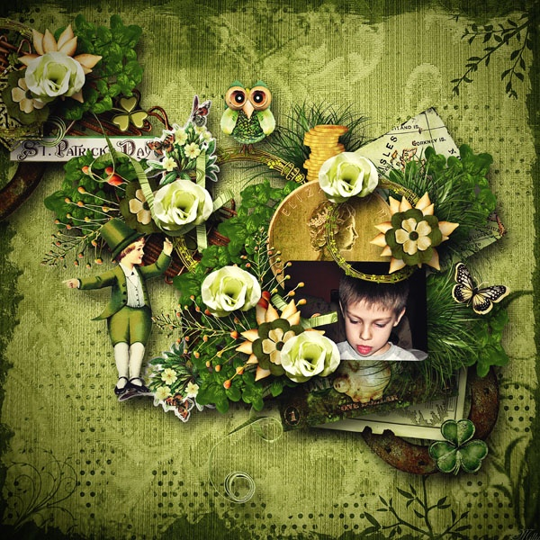 Finding Shamrock by Rucola Designs  template44 free exclusive fan facebook by Saskia Scrap