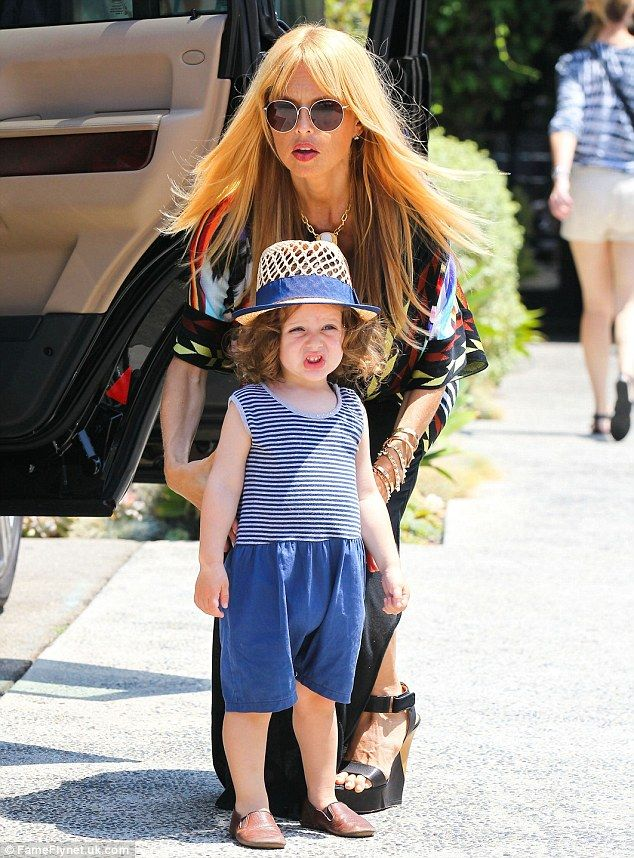 Time for a haircut? The famously thin mompreneur then brought her adorable two-year-old to the Andy Lecompte Salon in West Hollywood
