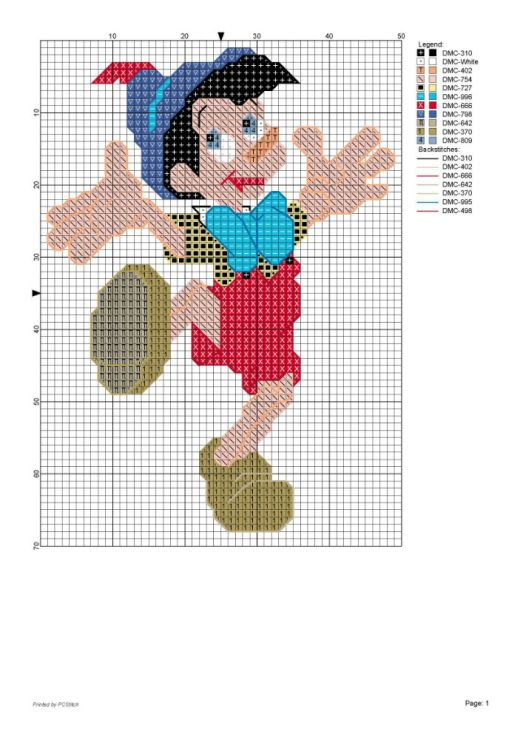 35 best images about cross stitch pinocchio on pinterest for Pinocchio hat template