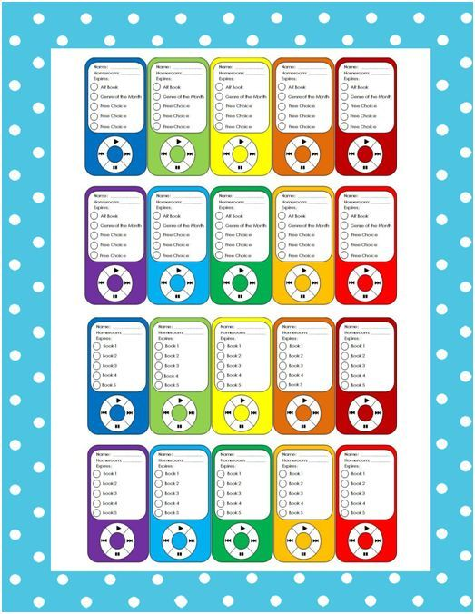 40 best Accelerated Reader images on Pinterest Classroom ideas - copy zumba punch card template free