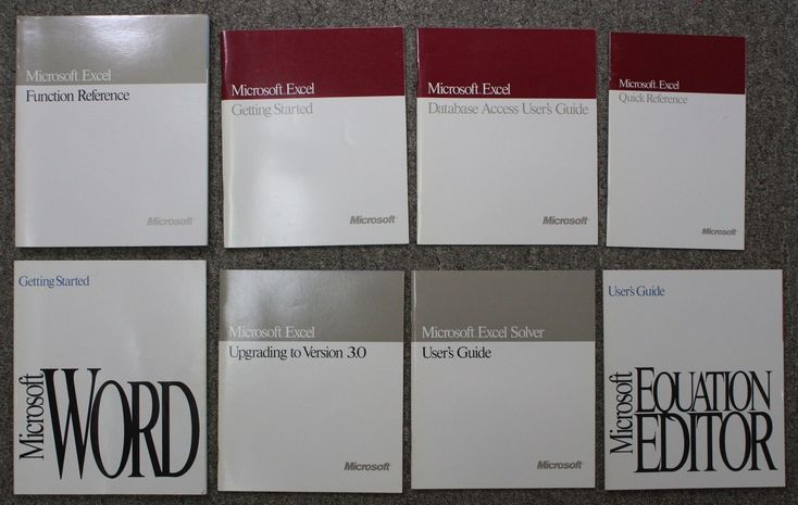 LOT Of (8) Vintage Original 1990's Microsoft Software User Guides Word Excel: $20.00 End Date: Monday Mar-12-2018 6:02:39 PDT Buy It Now…