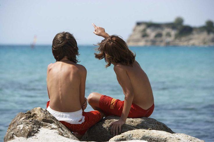 Having fun at the beach… Location: Halkidiki, Greece