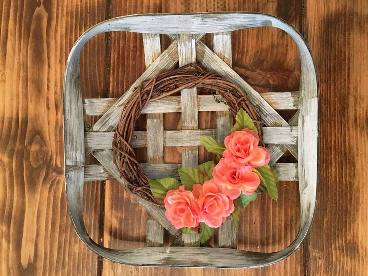 """These little cuties are the baby cousin to our signature mini basket. They measure approximately 10""""x10"""" and arestained with ourhomemade stain, which is made"""