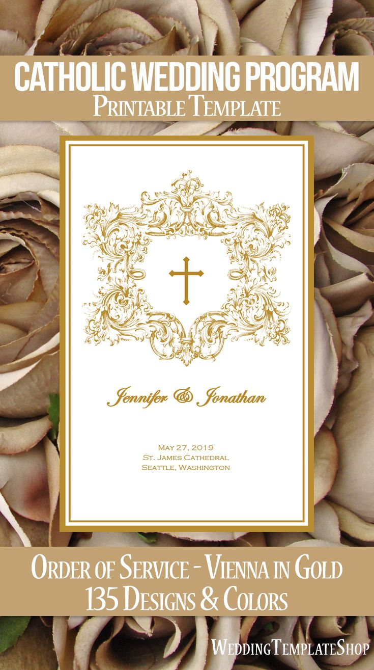 25 best ideas about catholic wedding programs on for Wedding processional order template