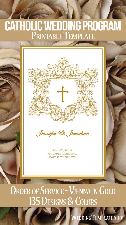 Catholic Wedding Programs, DIY Templates, Order of Service.