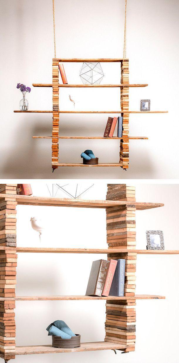 Estantería de maderas recicladas/ Recycled wood shelving by FORT #recycle design