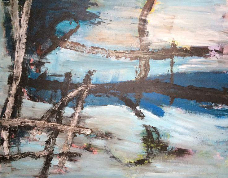 Kell Jarner. Acryl på lærred, 200 x 160 cm, 2014
