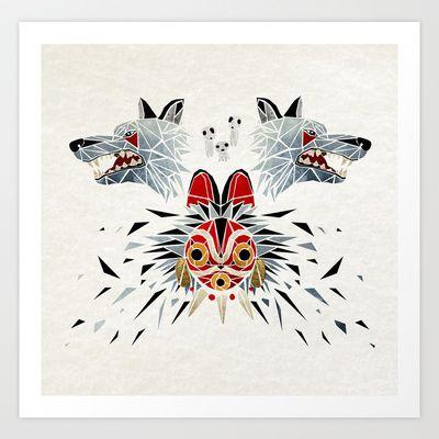 mononoke princess Art Print by Manoou - $17.48