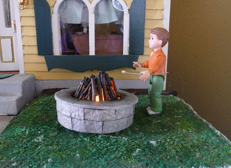 Dollhouse Miniature Fire-pit