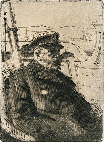 Anders Zorn(Swedish, 1860-1920) - King Oscar II, 1898