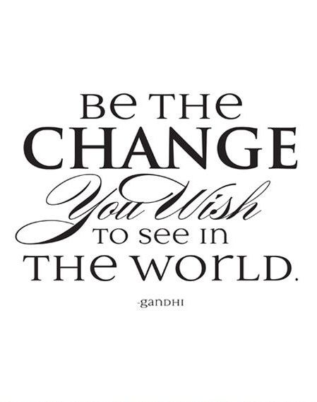 Be the Change Framed Print