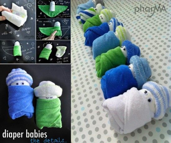 17 best images about baby shower on pinterest diaper for Diaper crafts for baby shower