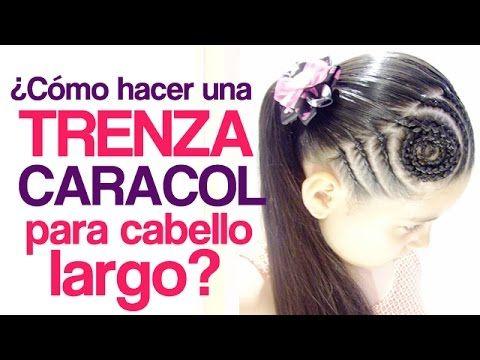 Peinados fáciles para niña | Trenza Caracol - YouTube
