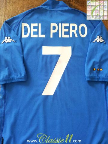 Relive Alessandro Del Piero's 2002/2003 international season with this vintage Kappa Italy home football shirt.