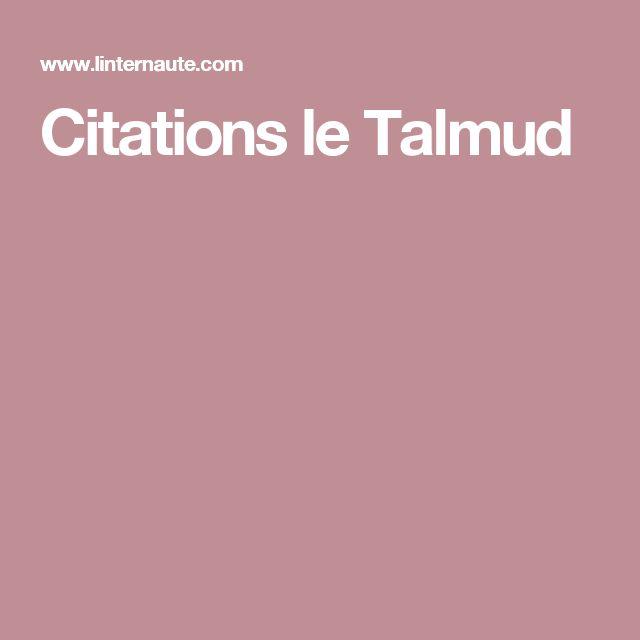 Citations le Talmud