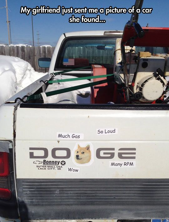 Much car. So Doge. Wow // funny pictures - funny photos - funny images - funny pics - funny quotes - #lol #humor #funnypictures