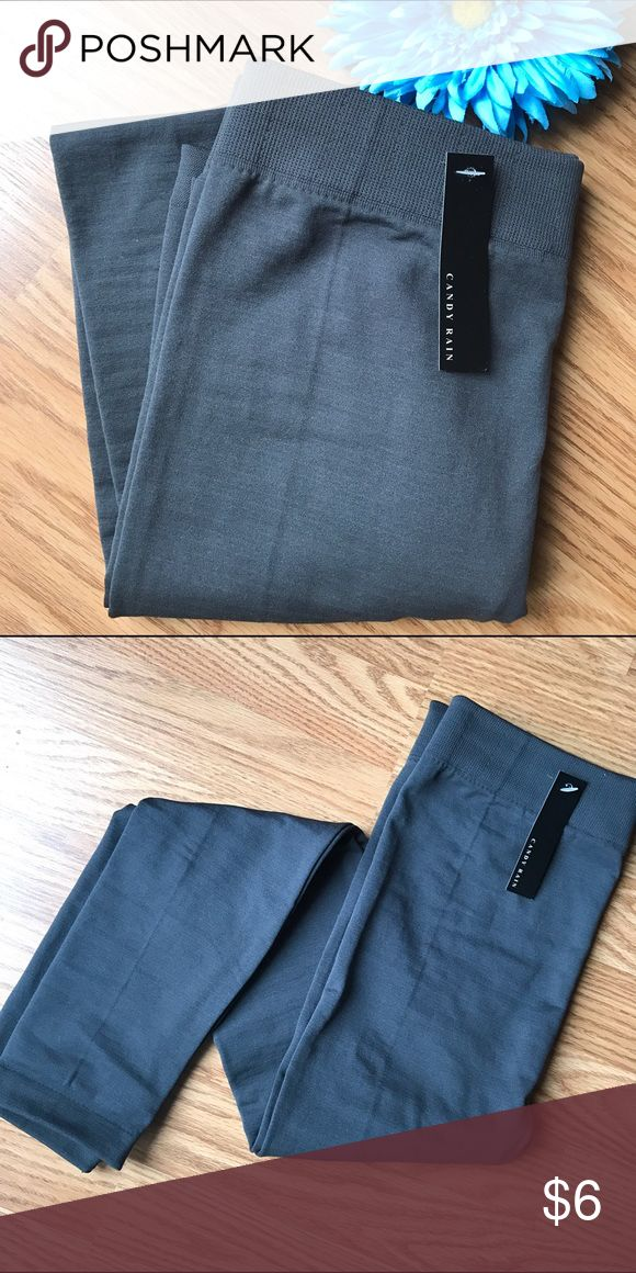 Gray Leggings NWT gray leggings. No size listed but when tried on they fit like a S/M. Candy Rain Pants Leggings