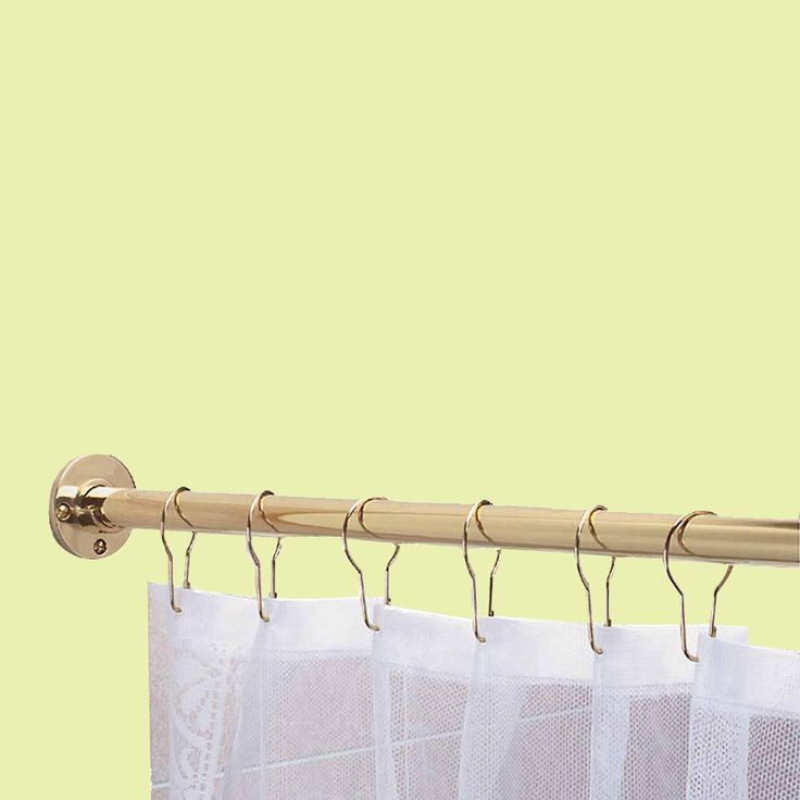 Item #97306 : 6' Solid Brass Shower Curtain Road Fits Standard Showers