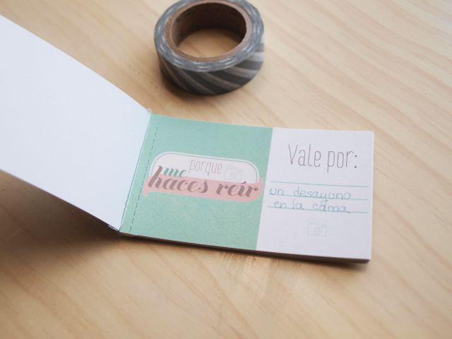 imprimible: talonario de vales