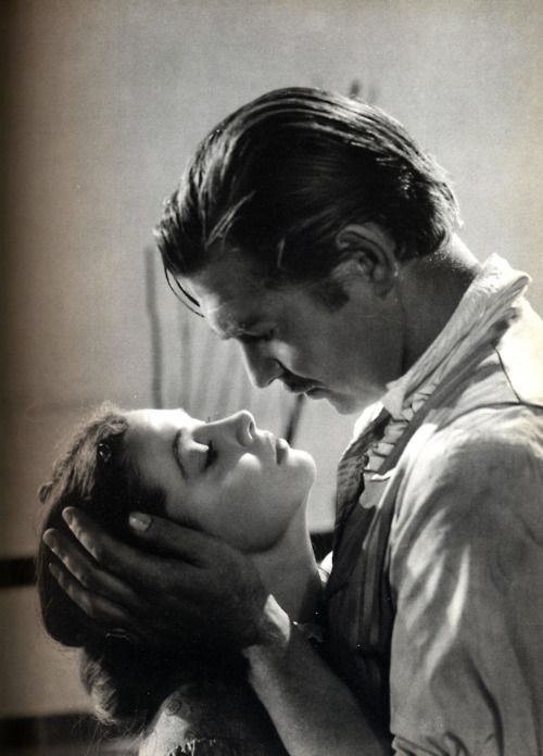 Vivien Leigh and Clark Gable in Gone With The Wind (1939).