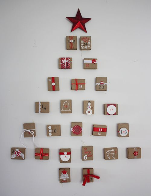 Advent calendar with gift boxes christmas pinterest - Pinterest advent ...