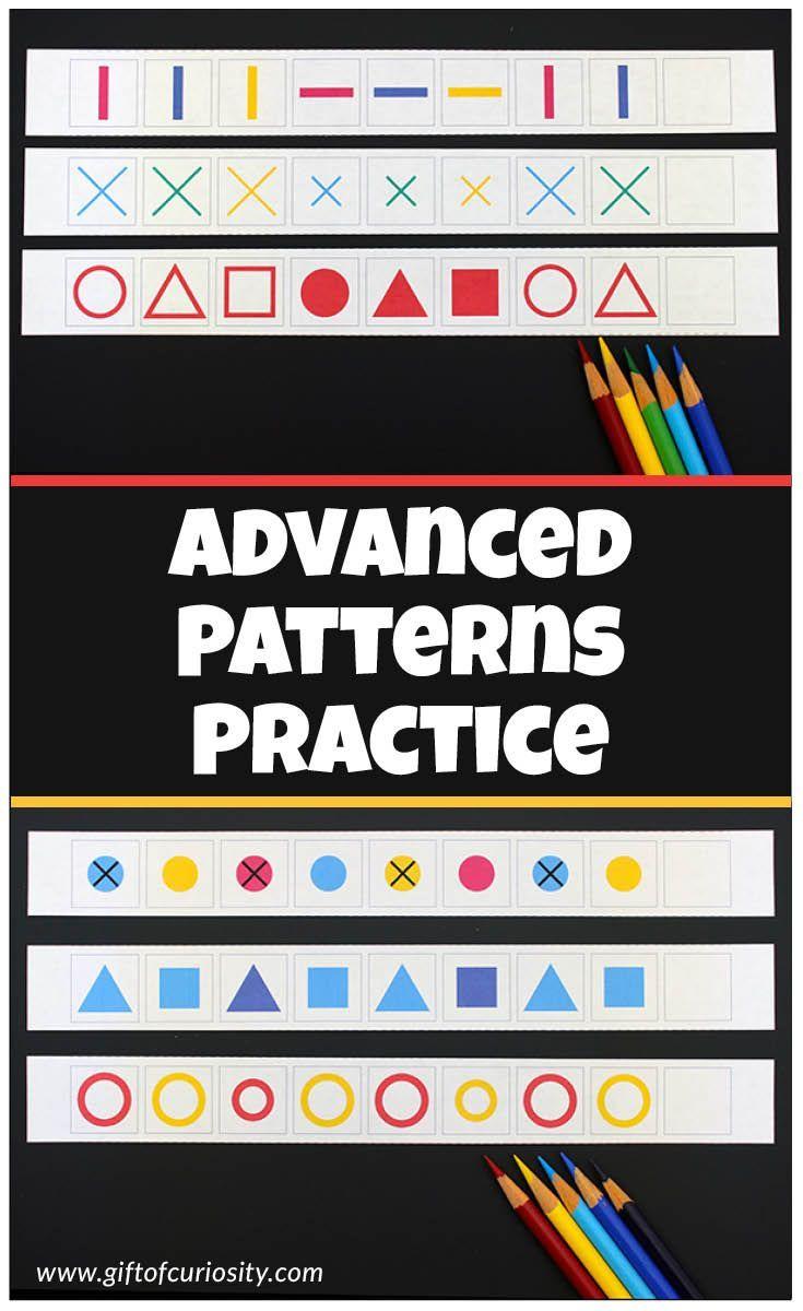 Advanced Patterns Worksheets For Kids Fun Practice With Complex Patterns Pattern Worksheets For Kindergarten Math Patterns Preschool Pattern Worksheets [ 1200 x 735 Pixel ]