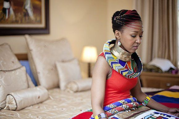 South AFrican Wedding bride ready
