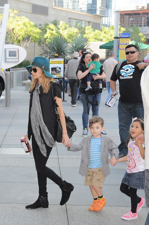 Stylish Celebrity Mom: Nicole Richie.  Whether dressed up for a Fashion Week party or down for a Yo Gabba Gabba concert with her son, Sparrow, and daughter, Harlow, Nicole Richie knows how to work boho-chic—a style she's also channeled into her House of Harlow fashion line. Glamour.com